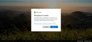 Guía con la que podemos recuperar la contraseña perdida de nuestra cuenta de correo electrónico de Outlook mediante código de recuperación