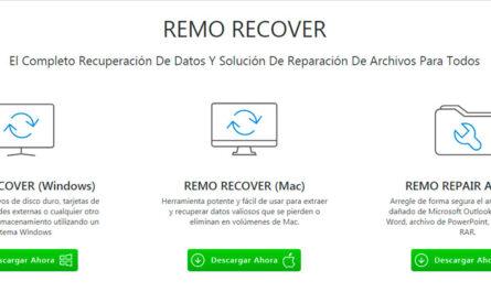 Remo recover, herramienta de recuperación de datos de PC
