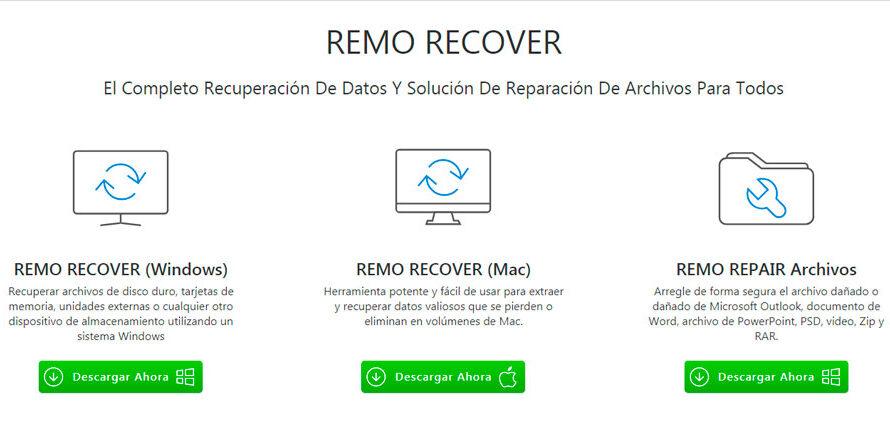 Como recupero información borrada con Remo Recover